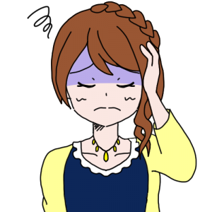 女性 頭痛 イラスト