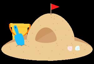 海水浴 砂遊び