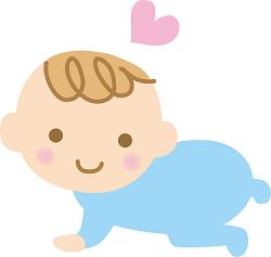 赤ちゃん ハート イラスト