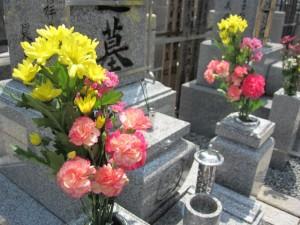 お墓 お花