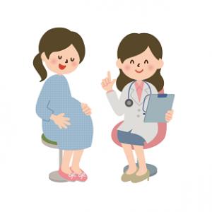 妊婦 女医 イラスト