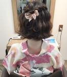 浴衣 女性 髪型 ボブ ハーフアップ