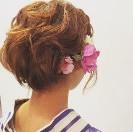 浴衣 女性 髪型 ボブ 編み込み アップスタイル