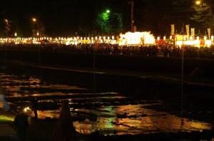秦野たばこ祭り 花火 水無川河川敷