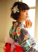 浴衣 女性 髪型 ボブ モダンアレンジ