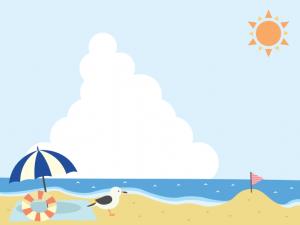 砂浜 ビーチフラッグ