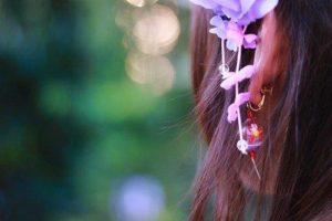 女性 髪飾り イヤリング