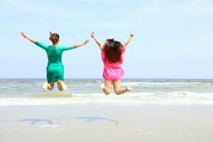 海岸 女性