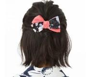 女性 髪型 ボブ ヘアアクセサリー リボン