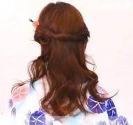 髪型 浴衣