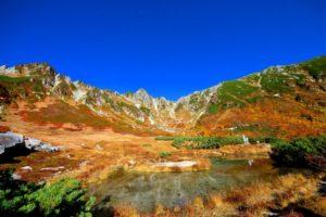 千畳敷カールに広がる美しい紅葉風景