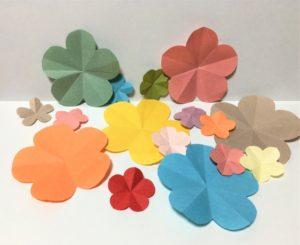 折り紙で作ったお花
