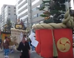 長崎くんち 傘鉾パレード