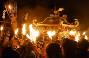 鞍馬の火祭り 神輿巡行