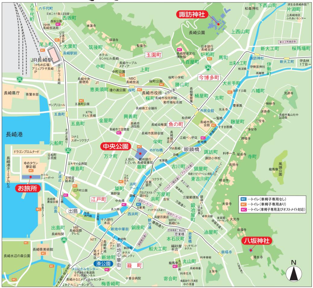 長崎くんち 庭先回り 地図