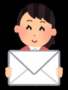 手紙 女性 イラスト