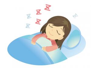 快眠 女性 イラスト