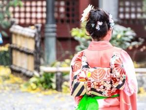 七五三 神社 参拝 着物 子供