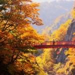 定山渓の紅葉2017。見頃の時期と見所。ゴンドラ、カヌーは?