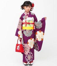女の子 七五三 着物 紫