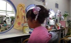 女の子 美容室 アップスタイル