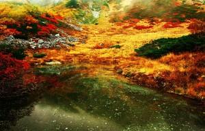 千畳敷カール 紅葉 剣ヶ池