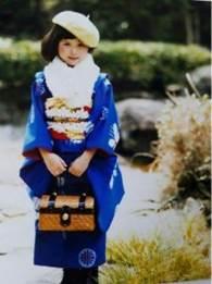 女の子 着物 ベレー帽