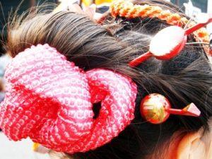 髪型 女の子 髪飾り