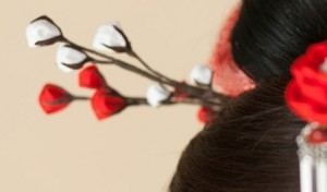 髪飾り 梅が枝