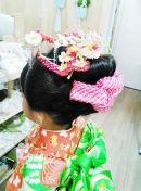 女の子 ヘアスタイル 着物 髪飾り