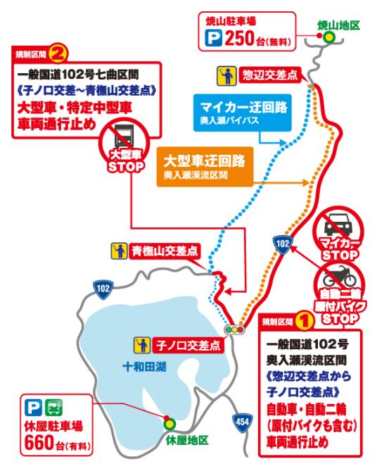奥入瀬渓流 交通規制