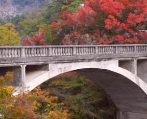 昇仙峡 紅葉 長潭橋