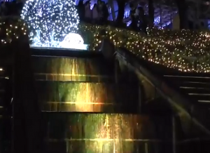 西武遊園地 イルミネーション 階段