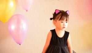 女の子 ハロウィン 猫 コスプレ