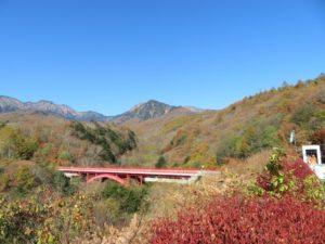 八ヶ岳高原 紅葉 東沢大橋