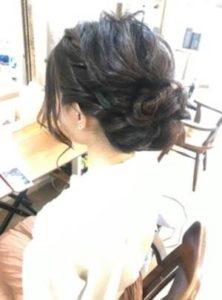 ロング 髪型 シニヨン