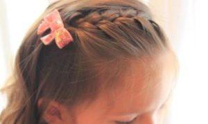 女の子 髪型 前髪編み込み