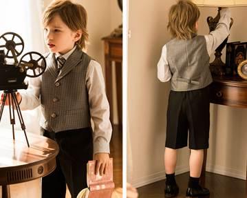 男の子 外国人 ハーフパンツスーツ