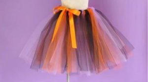 ハロウィン 手作りのチュールスカート