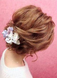 長めショート 女性 髪型 アップスタイル