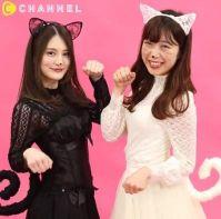 猫コスプレをした2人の女性