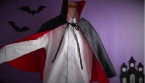 ハロウィン 手作りのドラキュラ衣装