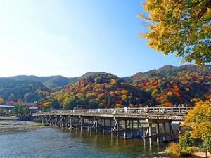 嵐山 紅葉 渡月橋