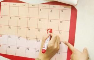 カレンダーに印をつける