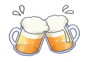ビールで乾杯 イラスト