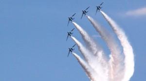 百里基地航空祭 ブルーインパルス