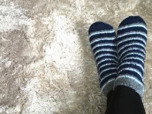 女性 足 靴下 モコモコ カーペット