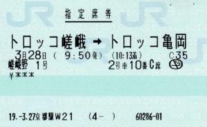嵯峨野観光鉄道 チケット