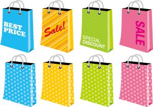 買い物袋 セール イラスト