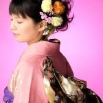 成人式 髪飾り 生花